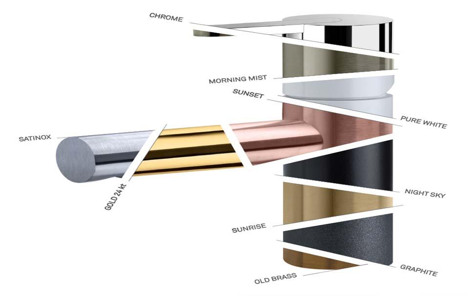 esquema de cores disponiveis